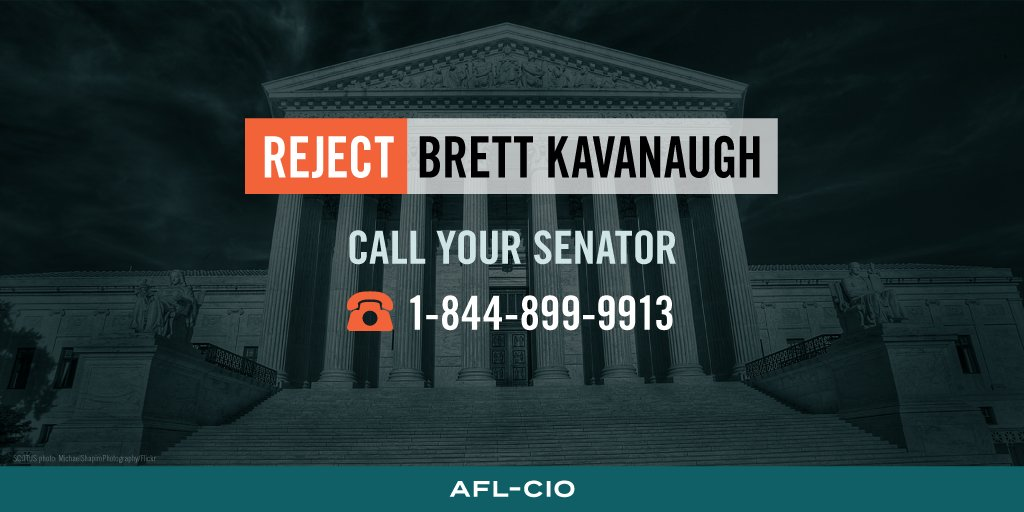 Reject Judge Brett Kavanaugh